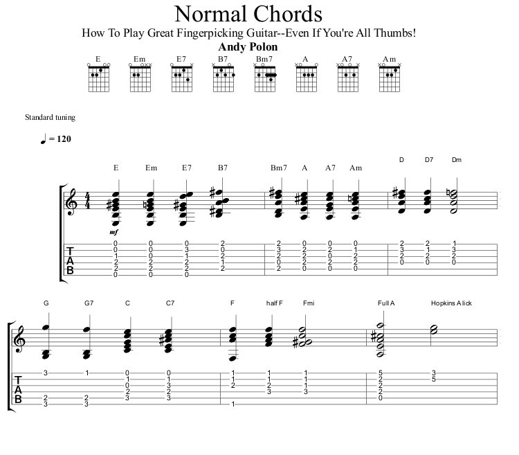 Play Great Fingerpicking Guitar Chords
